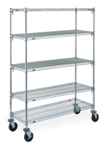 Metro 4-tier Super Adjustable Stem Caster Carts