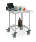 Metro MetroMax Polymer Lab Worktables with Stainless Top and 3-sided Frame