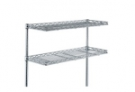 Metro Stationary Clean Tables with Cantilever Shelves for Overhead