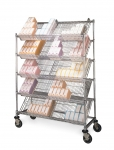 Metro Slanted Shelf Catheter Carts