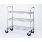 Metro Heavy-duty SP Series Carts with Stainless Steel Finish