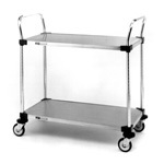 Metro Two Solid Shelf Utility Carts