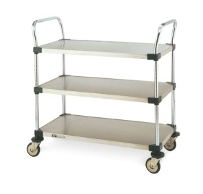Metro Three Solid Shelf Utility Carts