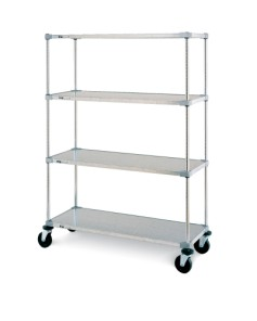 Metro 4-tier Solid Stem Caster Carts