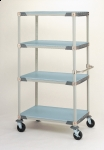 Metro MetroMax i Stem Caster Carts with Polymer Solid Shelves