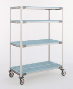 Metro MetroMax i Stem Caster Carts with Open Grid Shelves