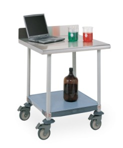 MetroMAx Worktable with Stainless Top and Solid Shelf