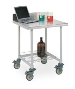 MetroMax Worktable with Stainless Top and 3-Sided Frame