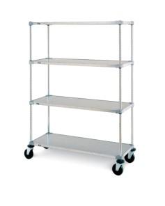 Stem Caster Cart 4 tier Solid