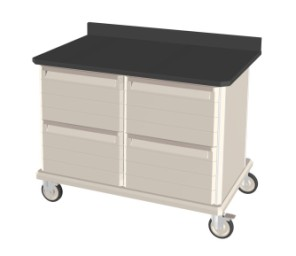 Double Wide Mobile Workcenters Epoxy Tops