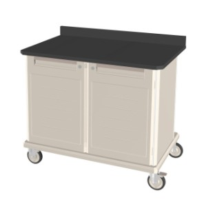 Mobile Workcenter Double Wide Epoxy Top
