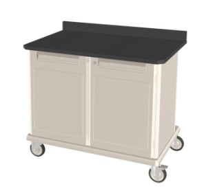 Epoxy Topped Mobile Workstation Double Wide
