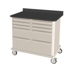 Double Wide Mobile Workcenter Unit w/ drawers