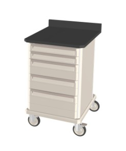 Standard Single Mobile Workcenter with Drawers