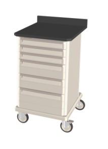 Standard Single Wide Mobile Workcenter w/ drawers