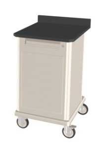Single Wide Polymer Shelf Mobile Workcenter