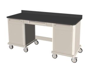 Mobile Workcenter Cart Single-Kneewell-Single Unit 36