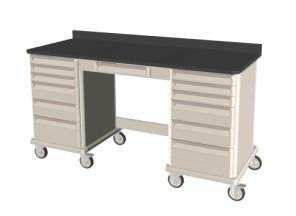 Single-Kneewell-Single Mobile Workcenter Cart 39