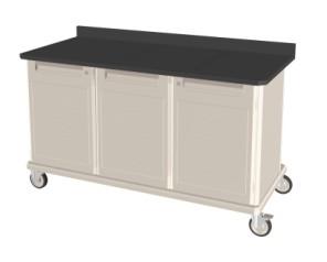 Triple Wide Mobile Workcenter w/ Lock Drawer/Shelf