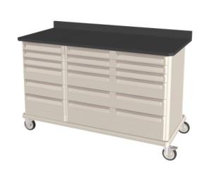 Heavy Duty Triple Wide Mobile Workcenter w/ drawers