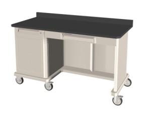 Triple wide with Kneewell Epoxy Top Polymer Shelf