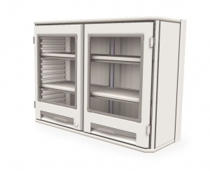 Starsys Double Wide Polymer Wall Unit 2 Clear Doors