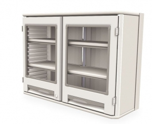 Starsys Double Wide Wall Unit with 2 Clear Doors