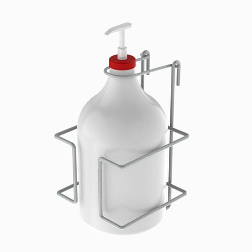 One gallon sanitizer holder